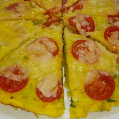 «Ленивая» пицца из кабачков