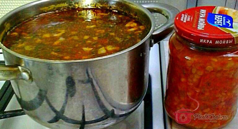 Зимой готовим быстрый гороховый суп.Варим бульон — на 2 литра…