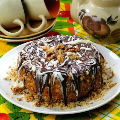 Торт шоколадно-ореховый без выпечки