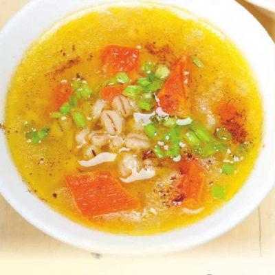 Ячменный суп с тыквой