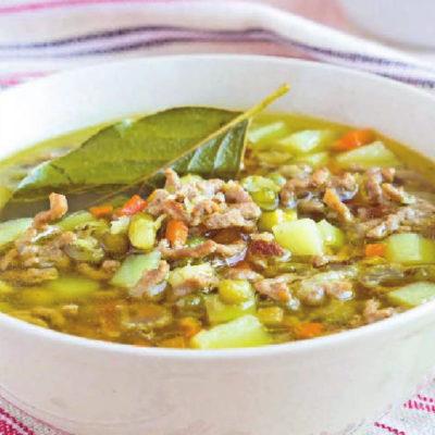 Фасолевый суп с фаршем