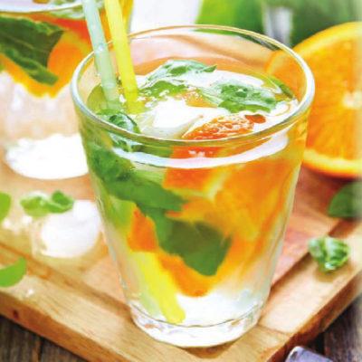 Цитрусовый лимонад с базиликом